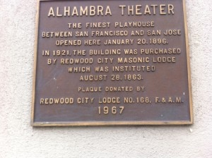 Redwood City Alhambra theater
