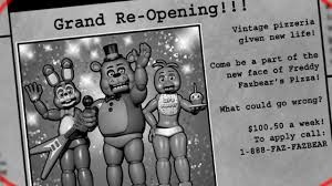 Newsprint Ad from Five Night at Freddy's